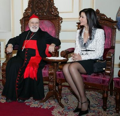 Le patriarche maronite est celui qui porte une robe longue