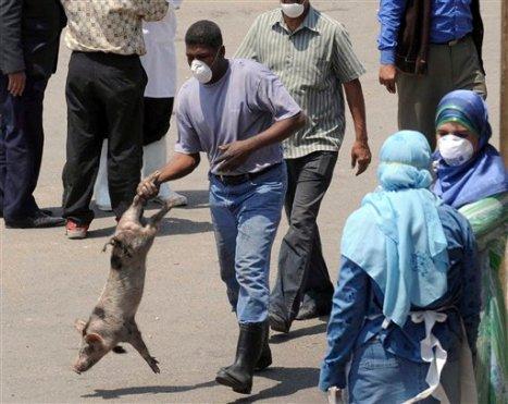 APTOPIX MIDEAST EGYPT SWINE FLU