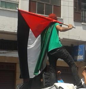 homme au drapeau